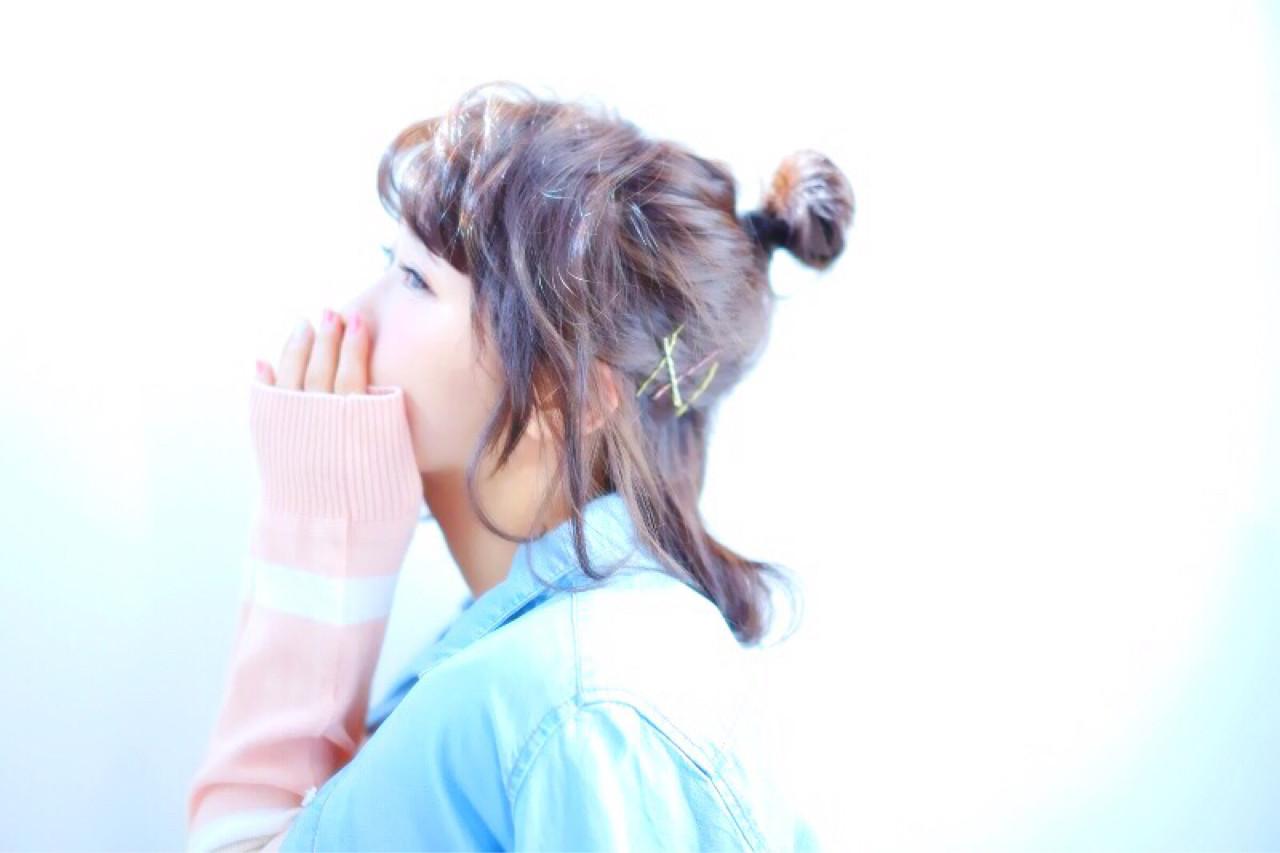 お団子 ショート ボブ ルーズ ヘアスタイルや髪型の写真・画像 | 多田 法香 /