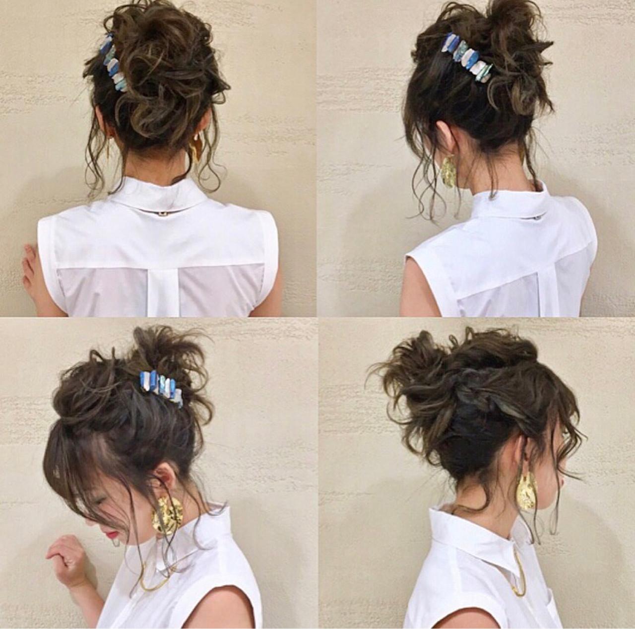 フェミニン ハイライト 前髪あり 抜け感 ヘアスタイルや髪型の写真・画像