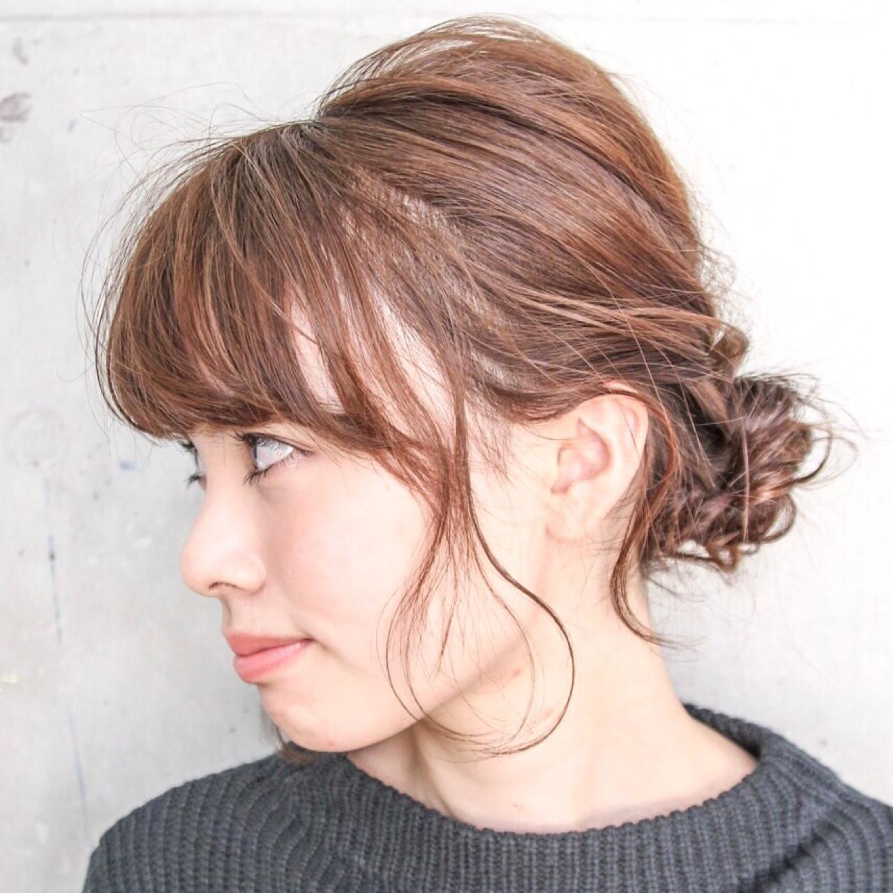 外国人風 簡単ヘアアレンジ ショート 大人女子 ヘアスタイルや髪型の写真・画像