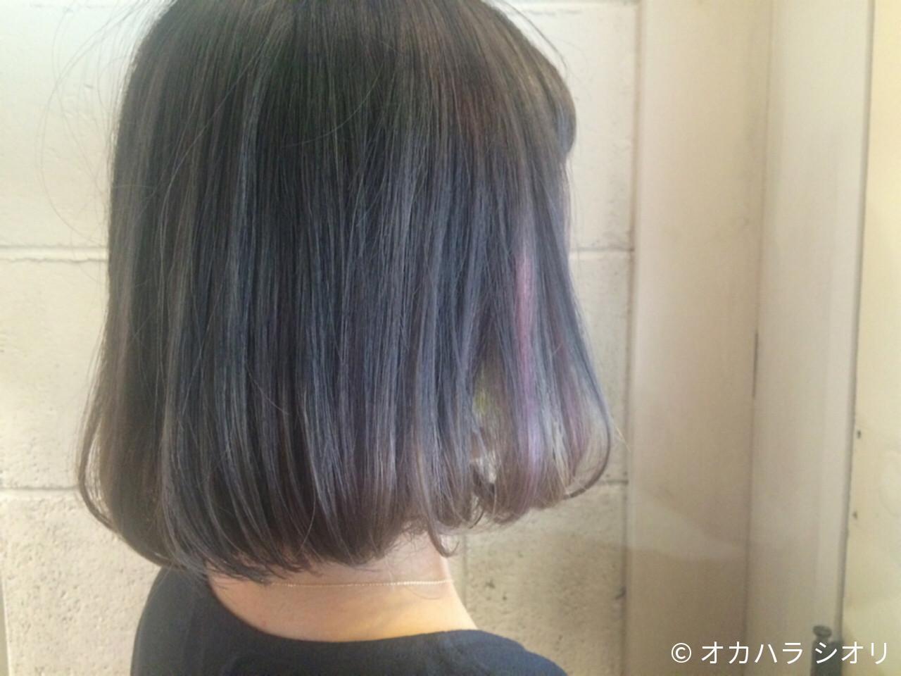 グラデーションカラー ラベンダーアッシュ ストリート アッシュ ヘアスタイルや髪型の写真・画像 | オカハラ シオリ / ninon