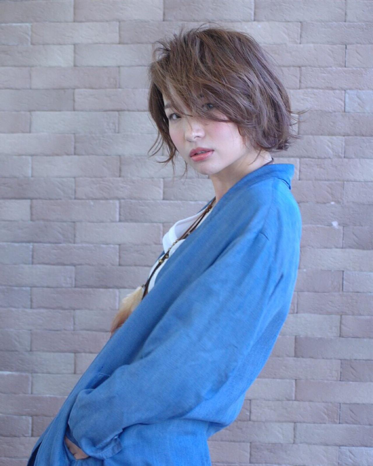 簡単 ボブ ストリート 大人女子 ヘアスタイルや髪型の写真・画像