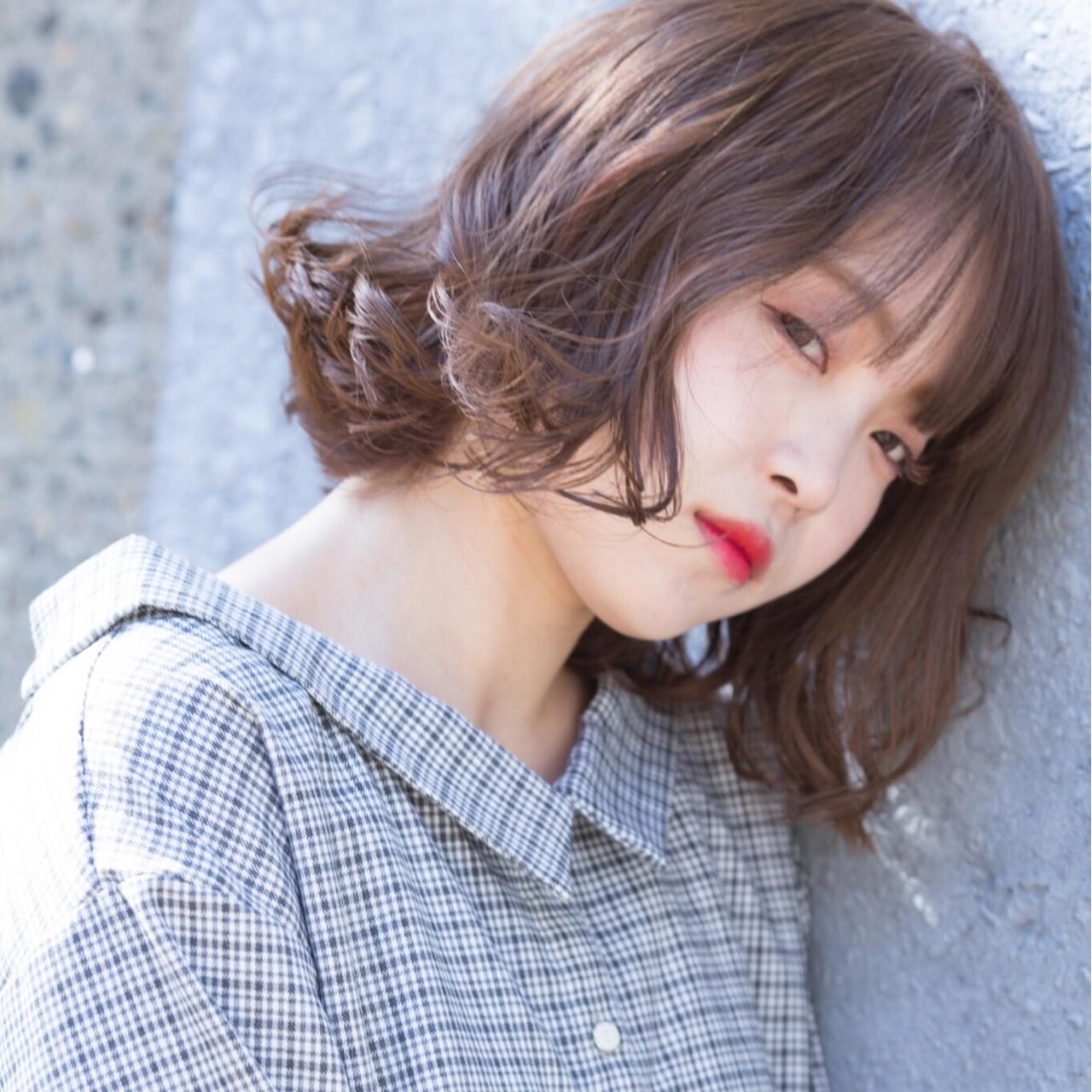 簡単ヘアアレンジ ボブ ヘアアレンジ デート ヘアスタイルや髪型の写真・画像   yuka /