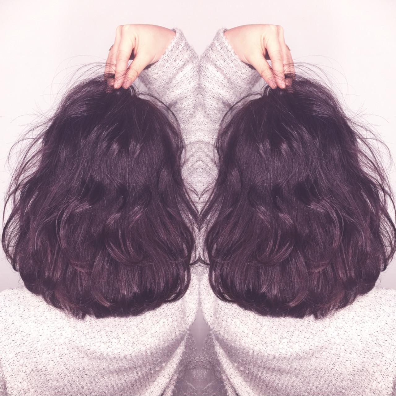 ガーリー ボブ デート パーマ ヘアスタイルや髪型の写真・画像 | 筒井 隆由 / Hair salon mode