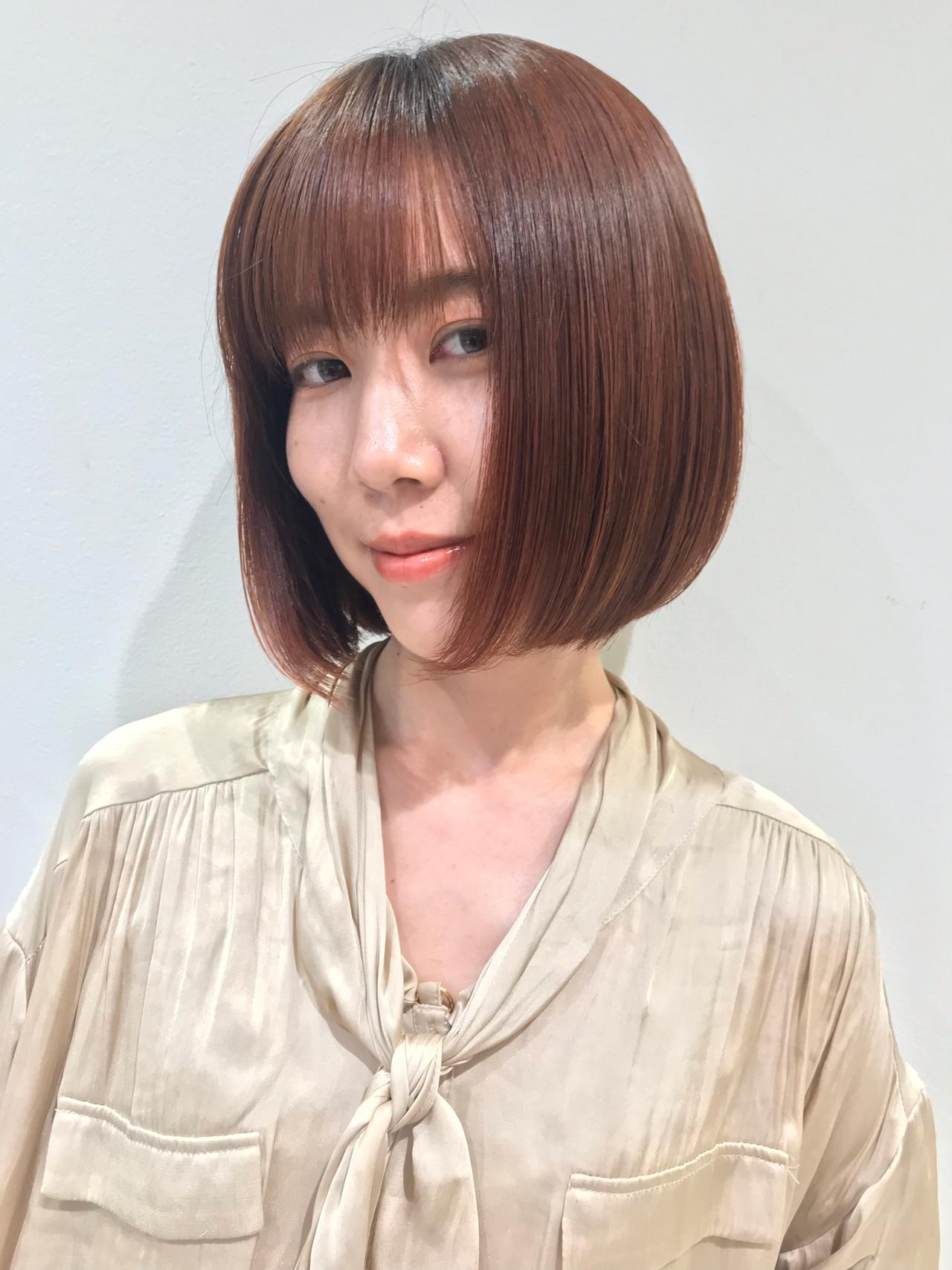 モード ボブ ヘアスタイルや髪型の写真・画像 | 吉澤愛 / Ash東戸塚