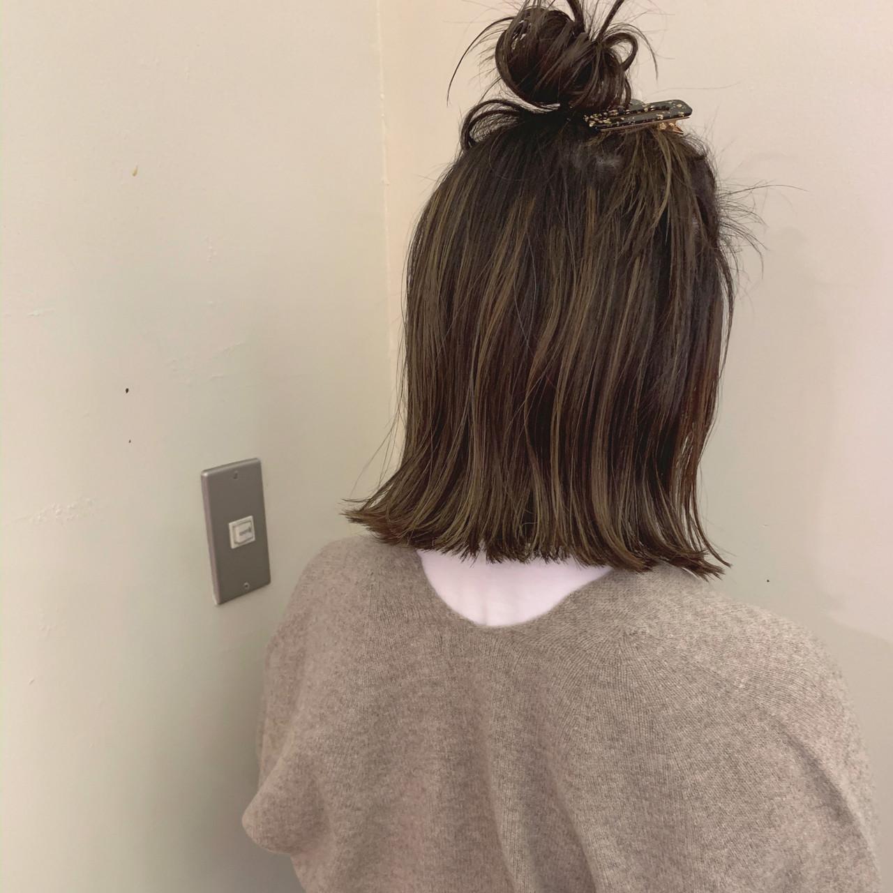 ナチュラル ゆるふわ 簡単ヘアアレンジ ボブ ヘアスタイルや髪型の写真・画像 | yumiko/sapporoSKNOW / SKNOW