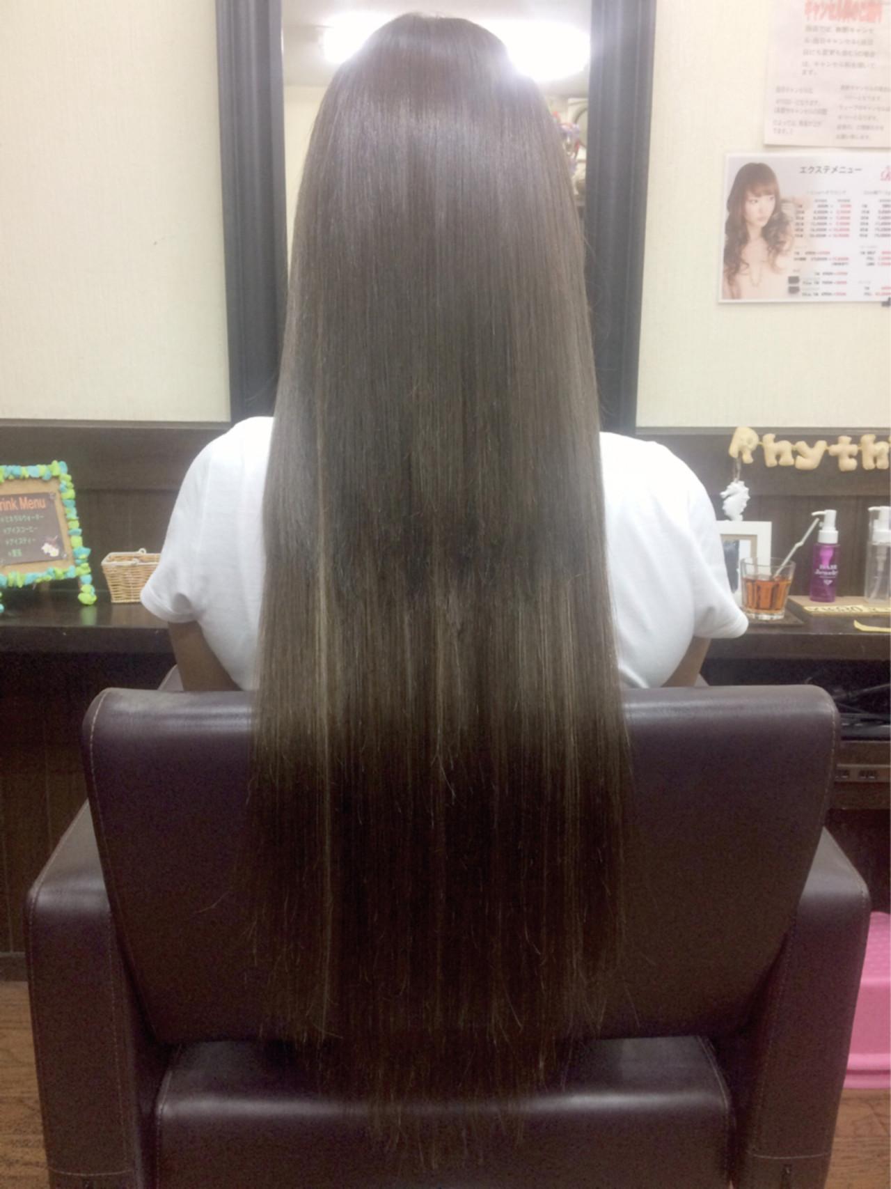 ロング ストリート 外国人風 ハイライト ヘアスタイルや髪型の写真・画像