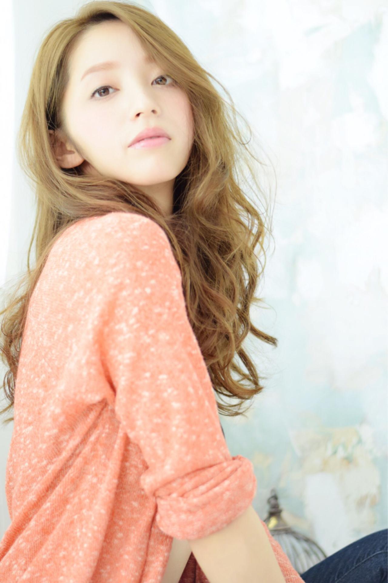 アッシュ 外国人風 ハイライト ロング ヘアスタイルや髪型の写真・画像 | あいちゅ /