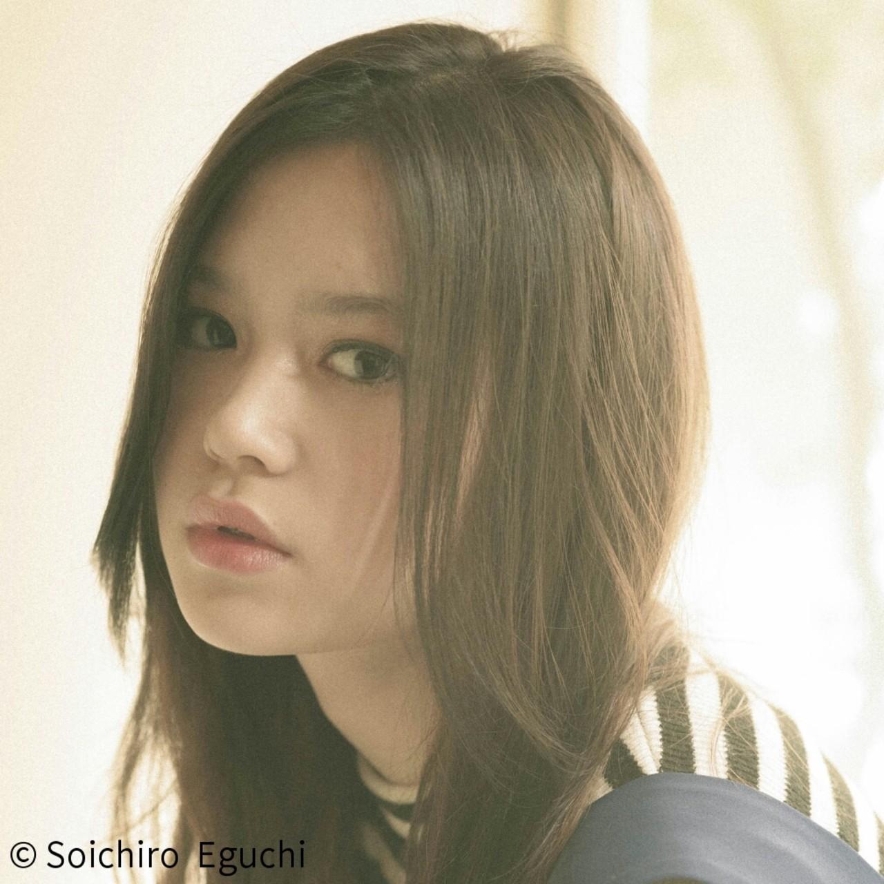 暗髪 ロング セミロング アッシュ ヘアスタイルや髪型の写真・画像   Soichiro Eguchi / La familia(原宿) Bonita by Lafamilia(横浜元町)