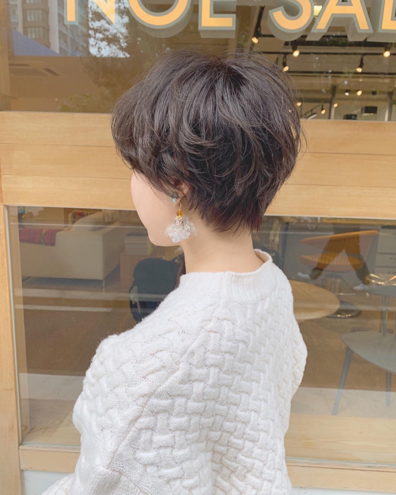 マッシュ パーマ ショート 外国人風 ヘアスタイルや髪型の写真・画像 | 祖父江基志 / NOESALON