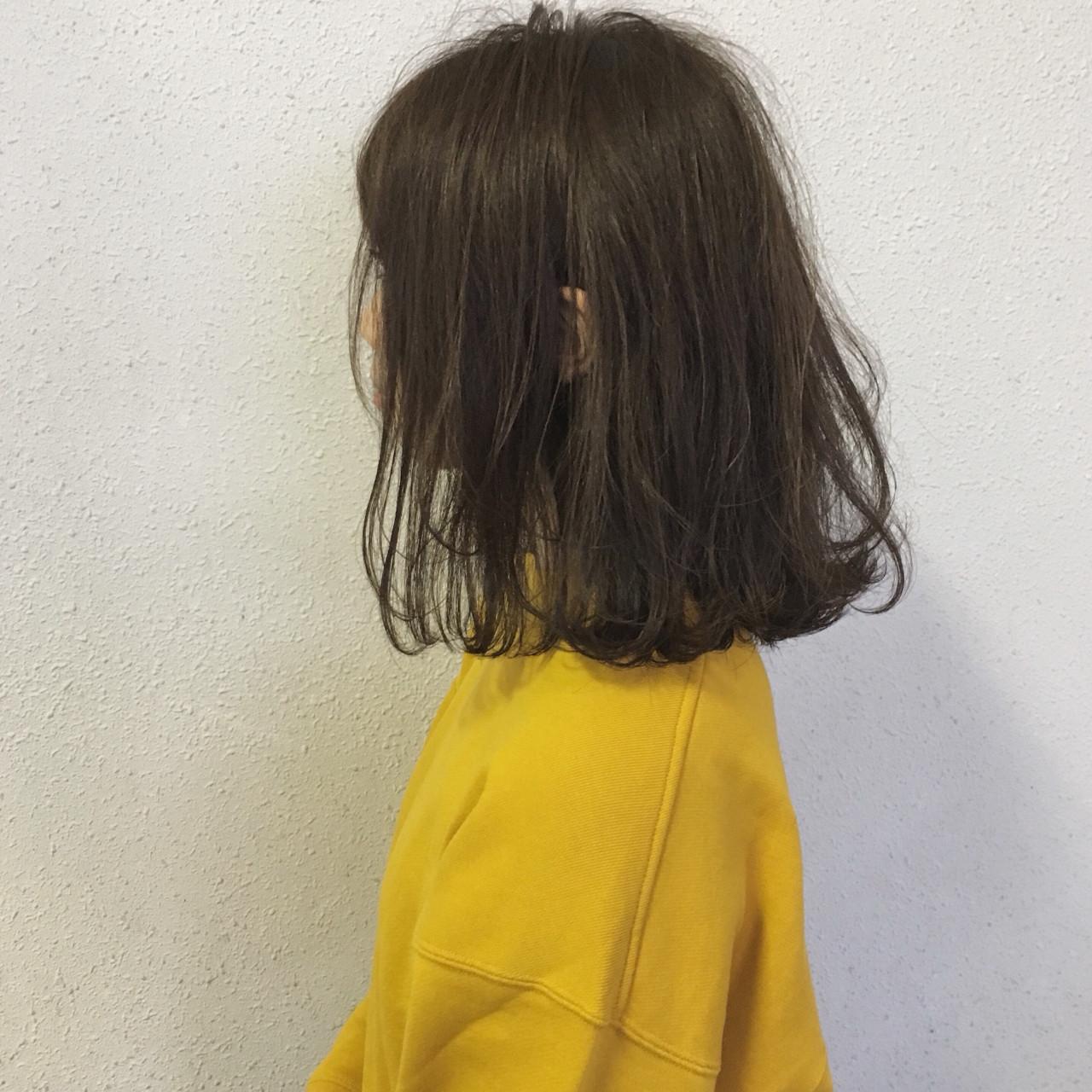 ロブ ボブ ナチュラル 外ハネ ヘアスタイルや髪型の写真・画像