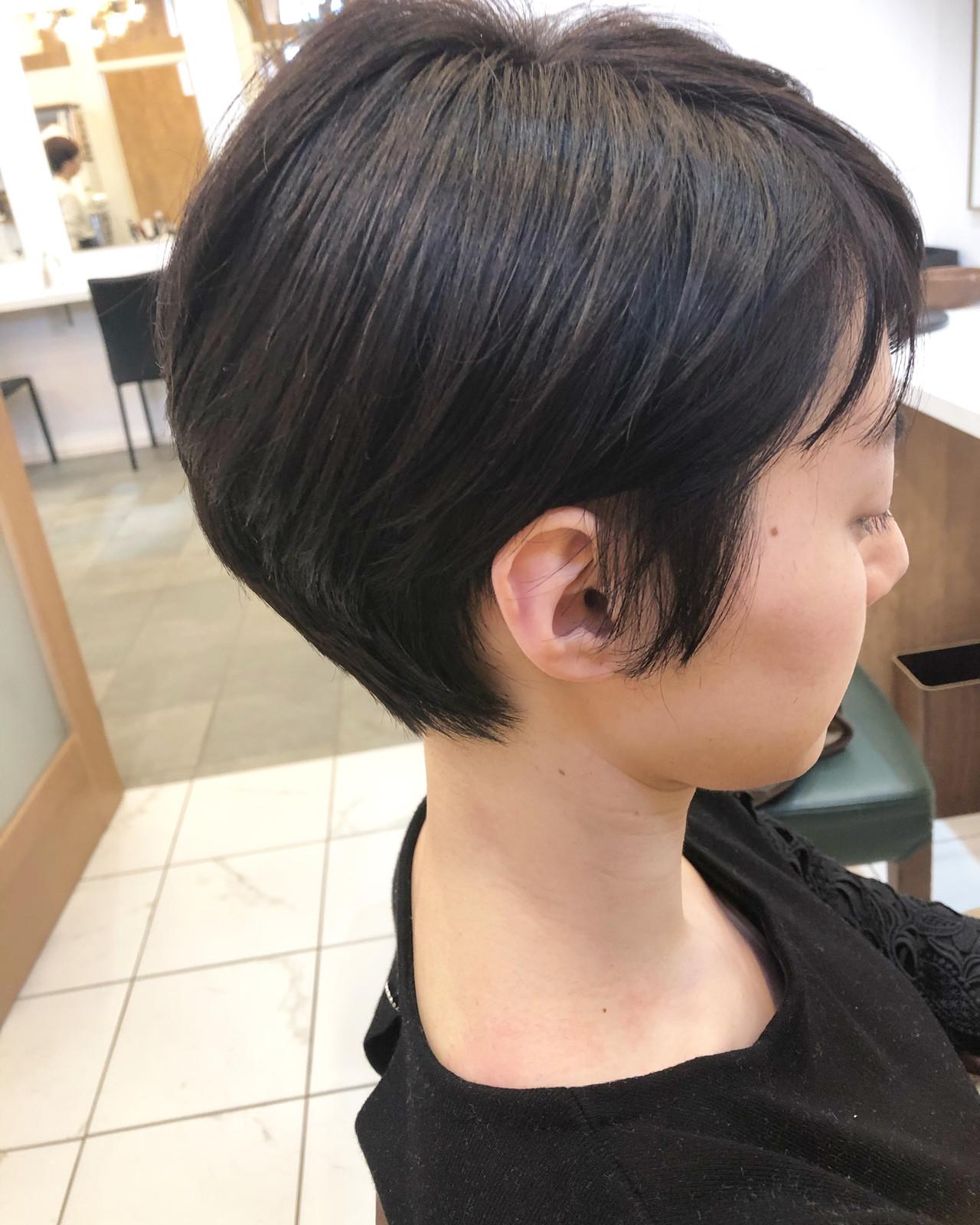 ベリーショート デート ナチュラル オフィス ヘアスタイルや髪型の写真・画像