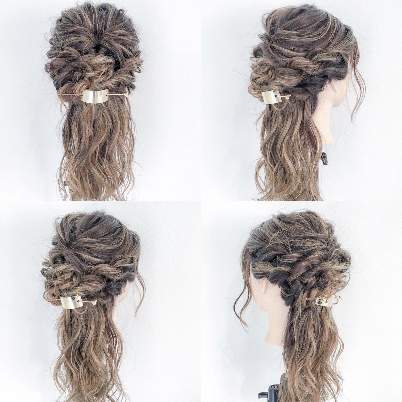 ロング ヘアアレンジ エレガント 結婚式 ヘアスタイルや髪型の写真・画像