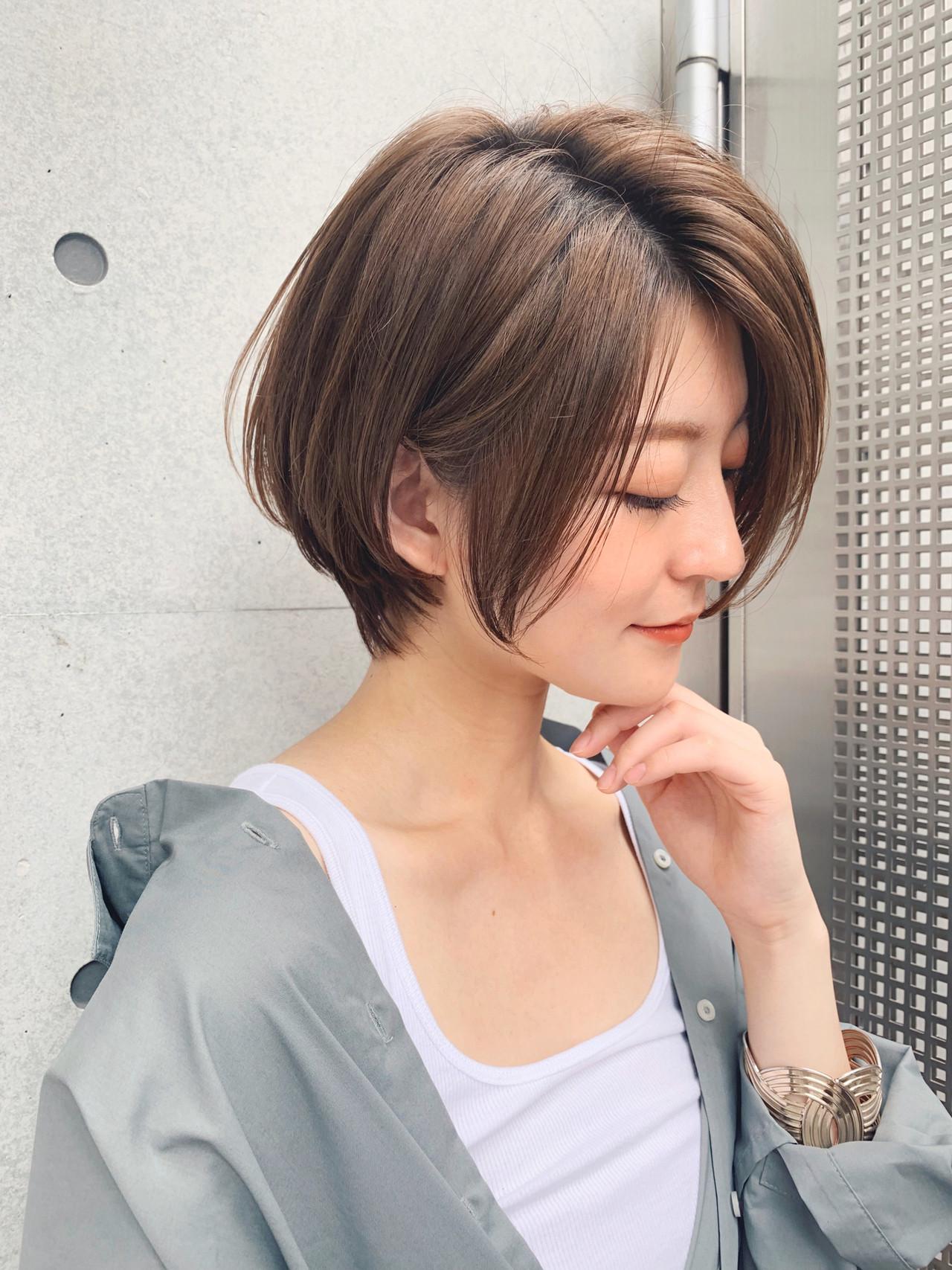 ミニボブ ショート ベリーショート ショートヘア ヘアスタイルや髪型の写真・画像