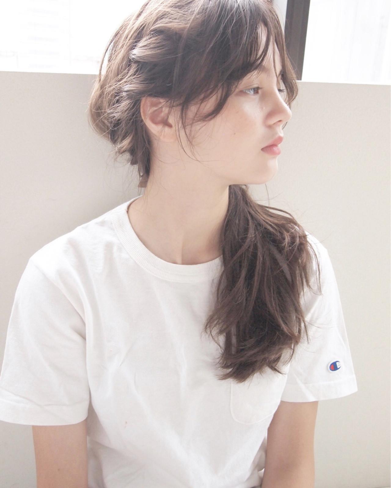 簡単ヘアアレンジ セミロング パーマ ショート ヘアスタイルや髪型の写真・画像 | UEKI/nanuk / nanuk二子玉川
