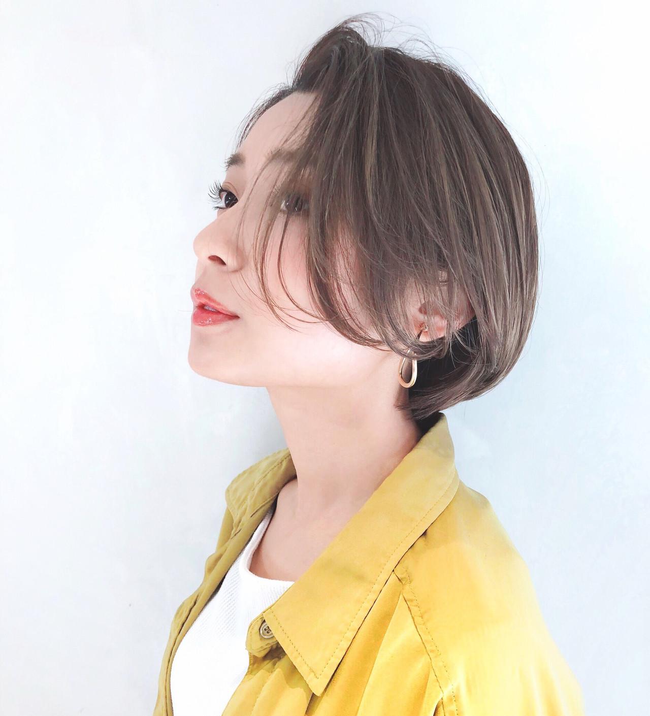 ショートボブ ナチュラル ヘアアレンジ ショート ヘアスタイルや髪型の写真・画像 | 豊田楓 GARDEN aoyama / GARDEN aoyama