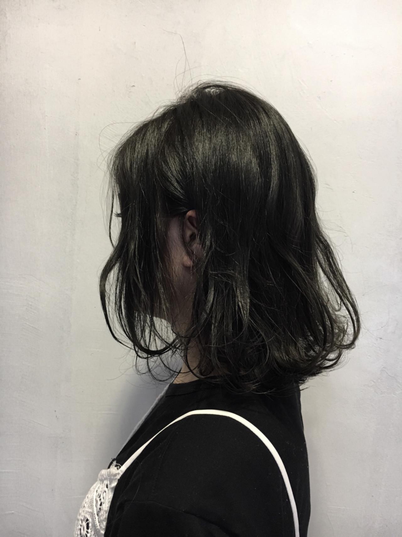 ミディアム 黒髪 外国人風 ボブ ヘアスタイルや髪型の写真・画像 | 松尾謙佑 / cielo