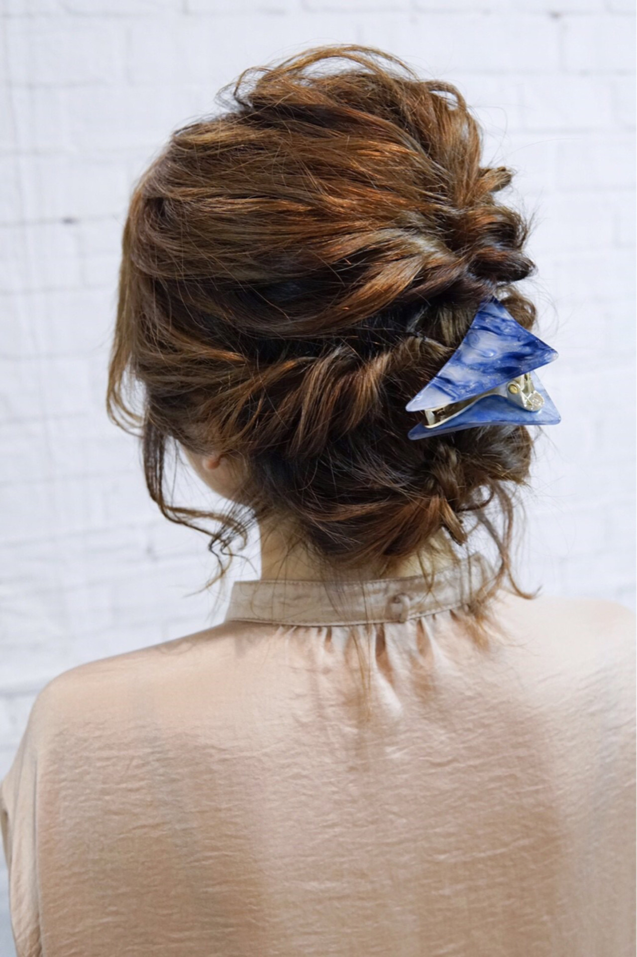 大人女子 ヘアアレンジ ゆるふわ くるりんぱ ヘアスタイルや髪型の写真・画像