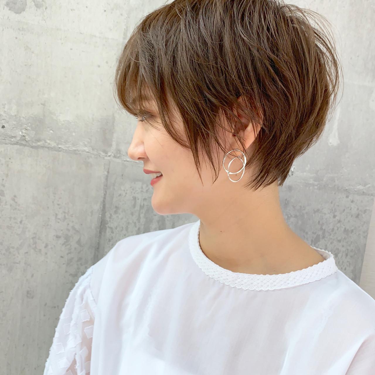 ショート ナチュラル ハンサムショート 小顔ショート ヘアスタイルや髪型の写真・画像 | 川原拓也 / GIEN ROUGE