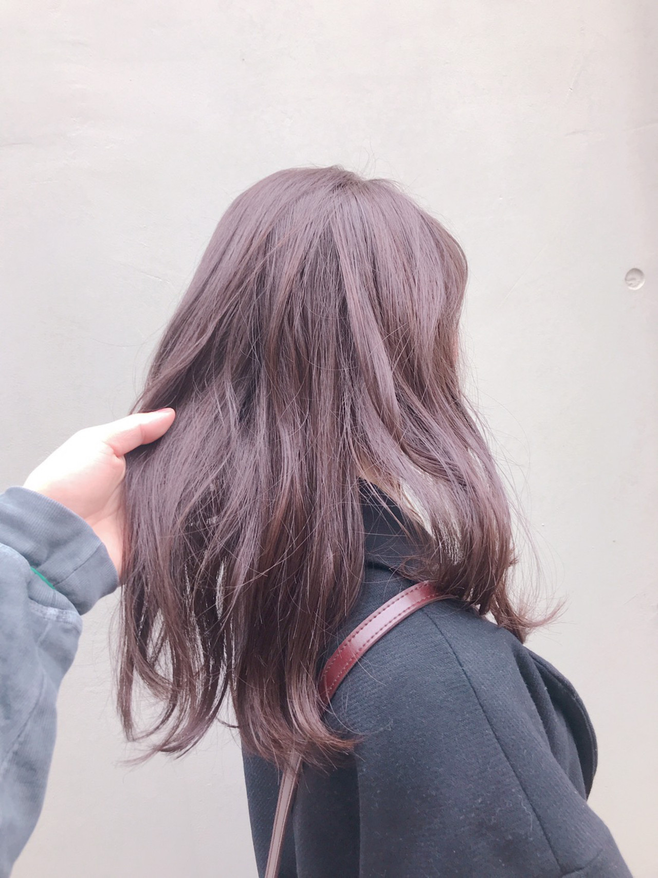 ブルーラベンダー ラベンダーグレージュ 透明感カラー グレージュ ヘアスタイルや髪型の写真・画像