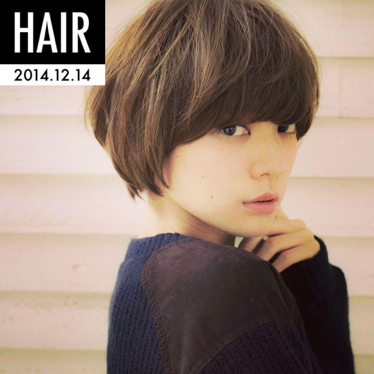 ナチュラル 大人かわいい ショート モテ髪 ヘアスタイルや髪型の写真・画像
