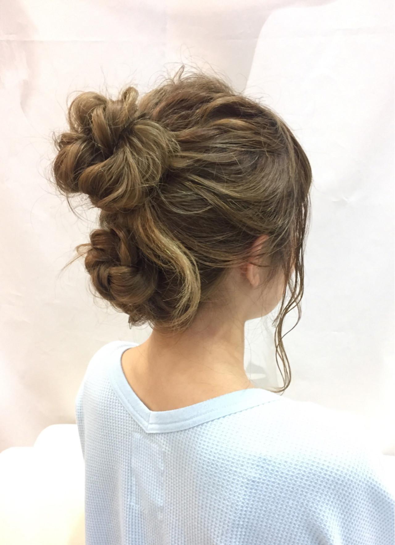 ショート セミロング 結婚式 簡単ヘアアレンジ ヘアスタイルや髪型の写真・画像