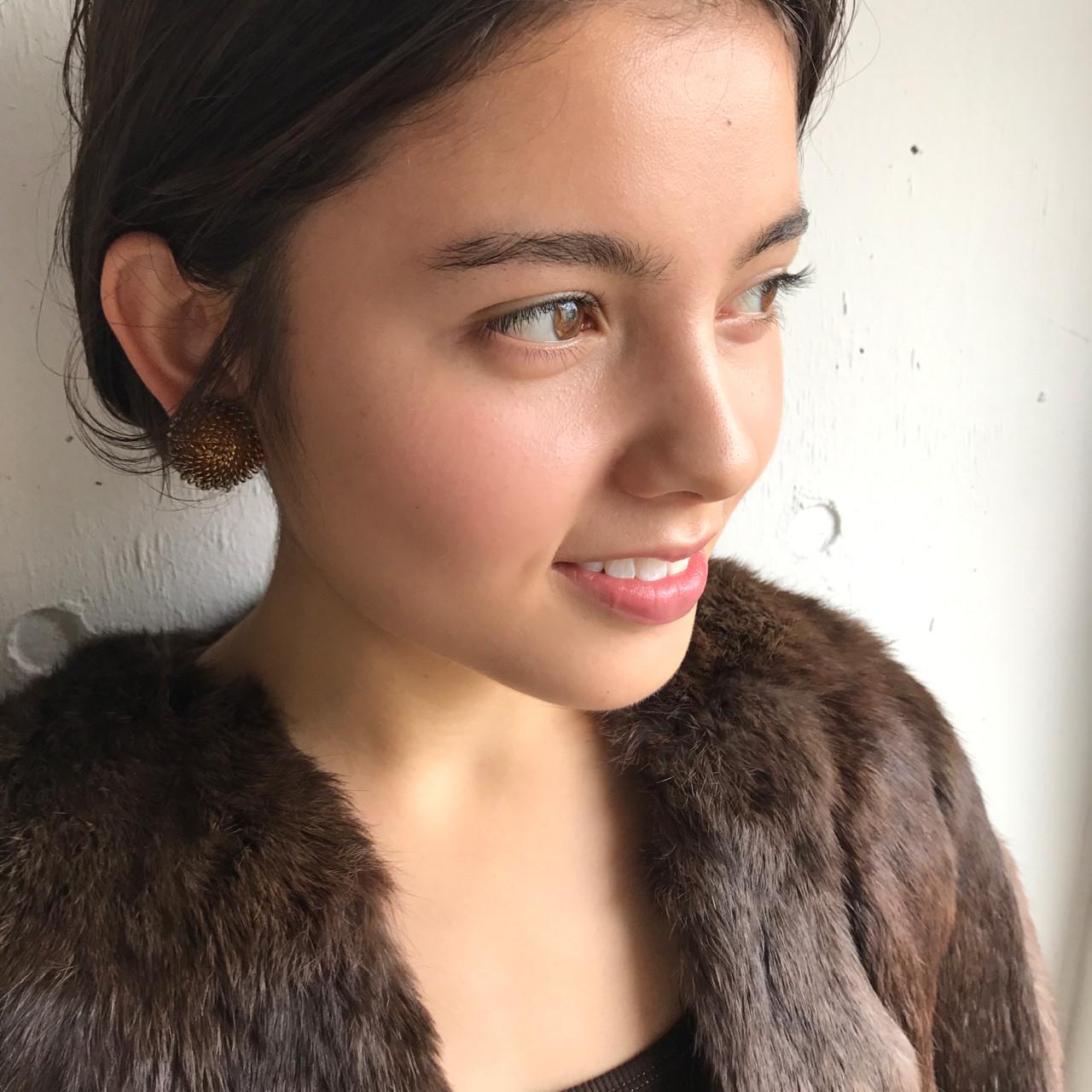 ニュアンス モード 暗髪 パーマ ヘアスタイルや髪型の写真・画像