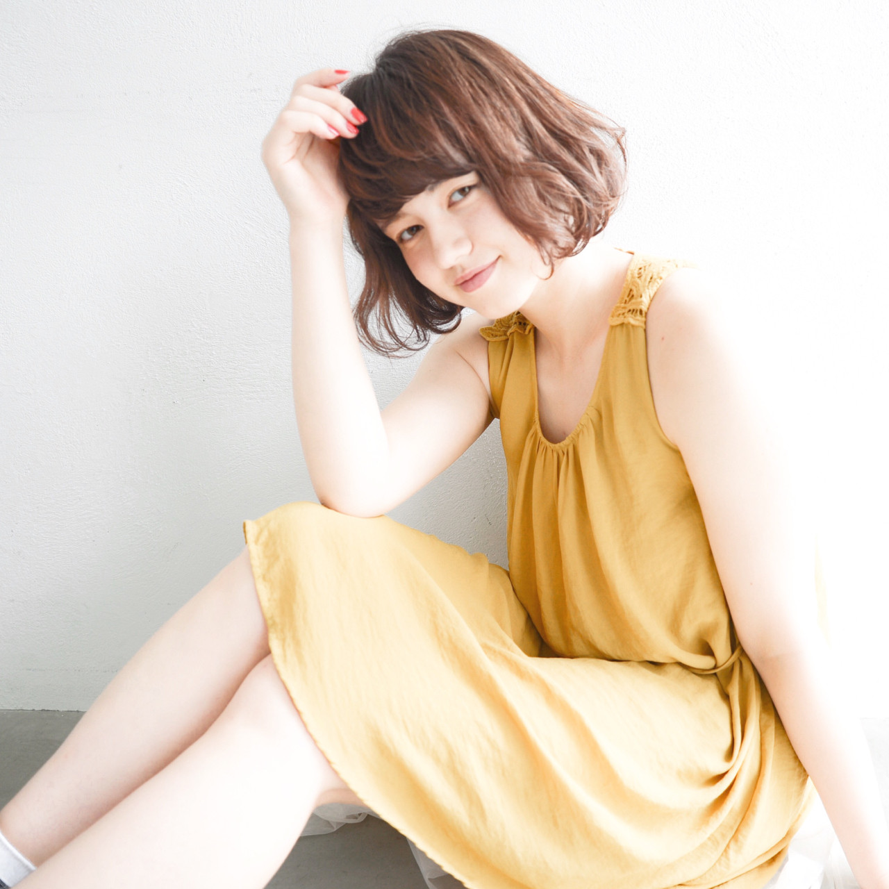 くせ毛風 フェミニン 大人かわいい パーマ ヘアスタイルや髪型の写真・画像 | yuuta inoue/vicca 'ekolu / vicca 'ekolu