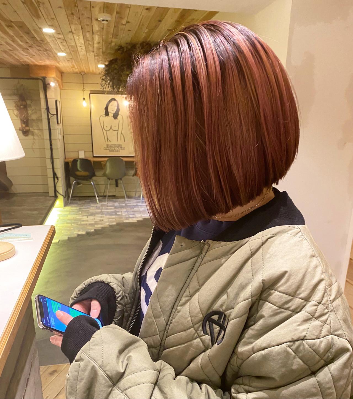 ミニボブ ボブ 切りっぱなしボブ ショートボブ ヘアスタイルや髪型の写真・画像