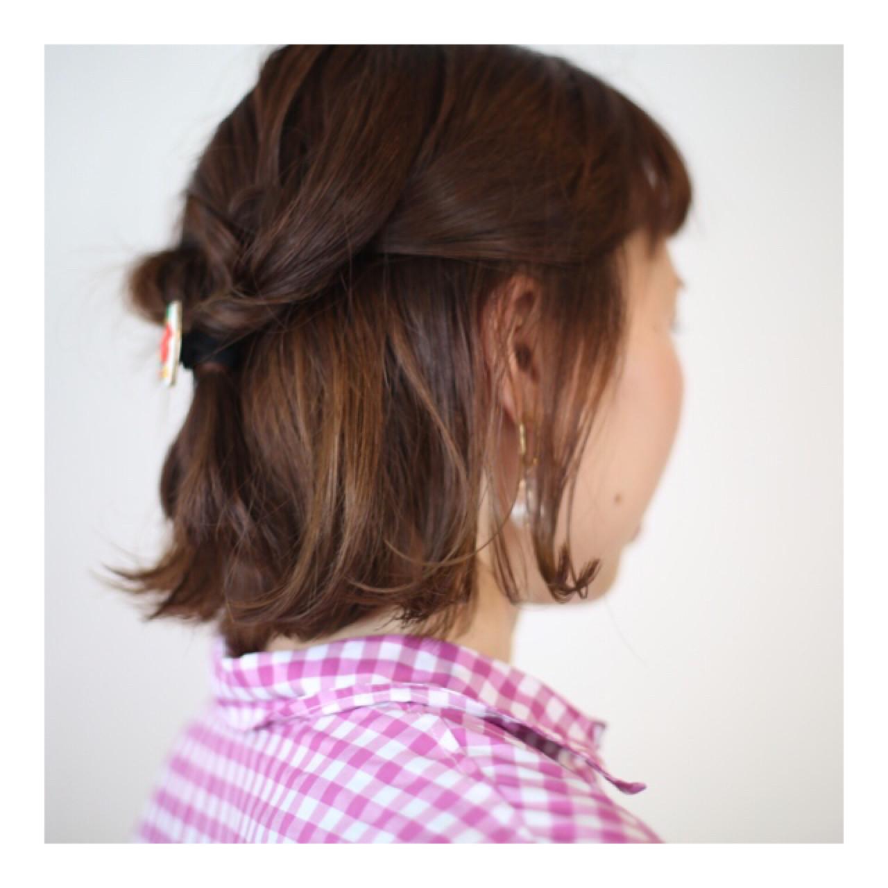 ナチュラル ブリーチ ボブ ダブルカラー ヘアスタイルや髪型の写真・画像