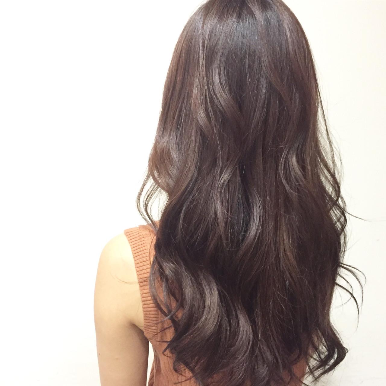 ハイライト セミロング 大人かわいい ブラウン ヘアスタイルや髪型の写真・画像
