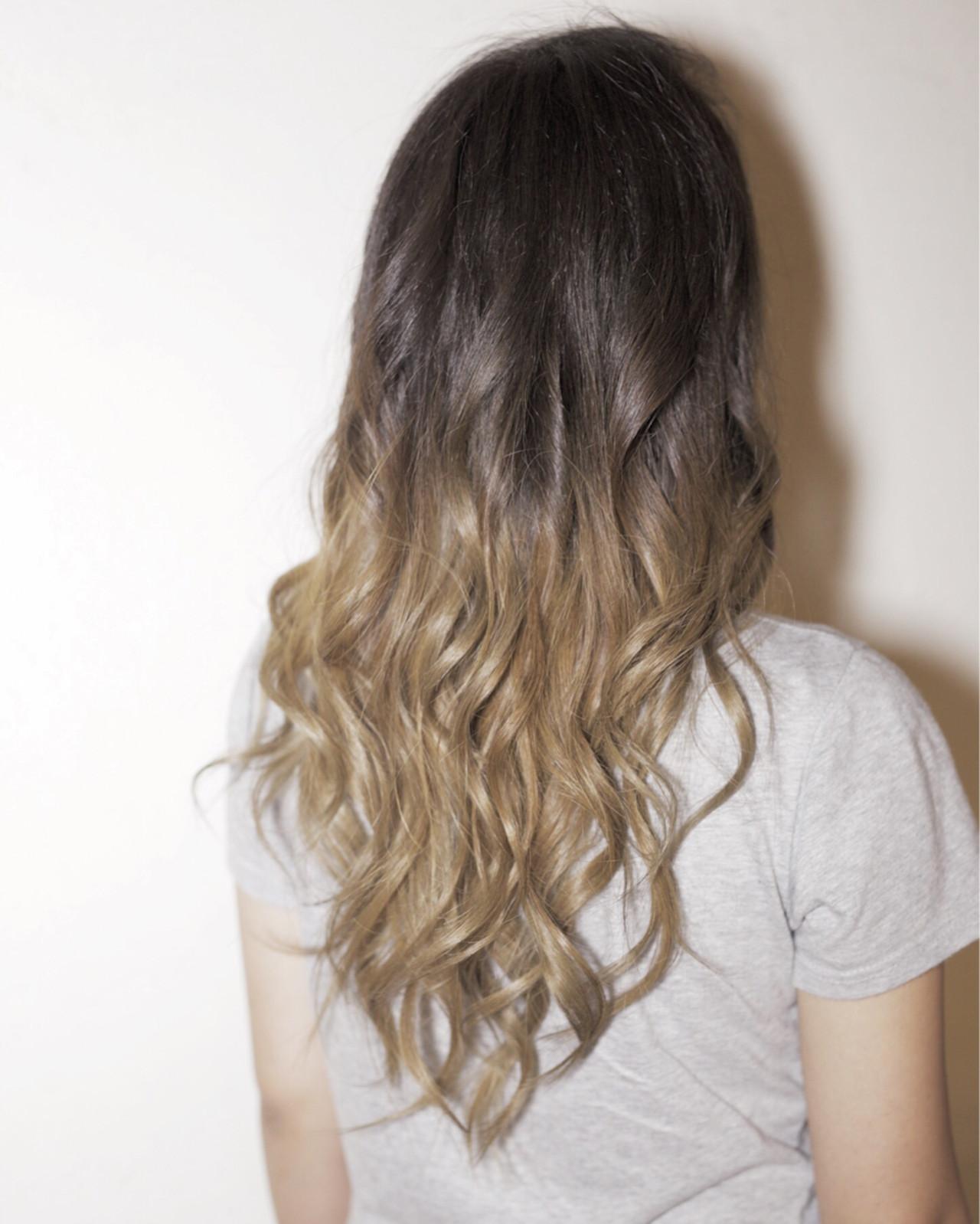ストリート グラデーションカラー ハイライト アッシュ ヘアスタイルや髪型の写真・画像