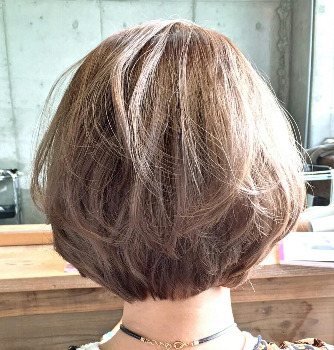 ボブ グラデーションカラー ガーリー ハイライト ヘアスタイルや髪型の写真・画像