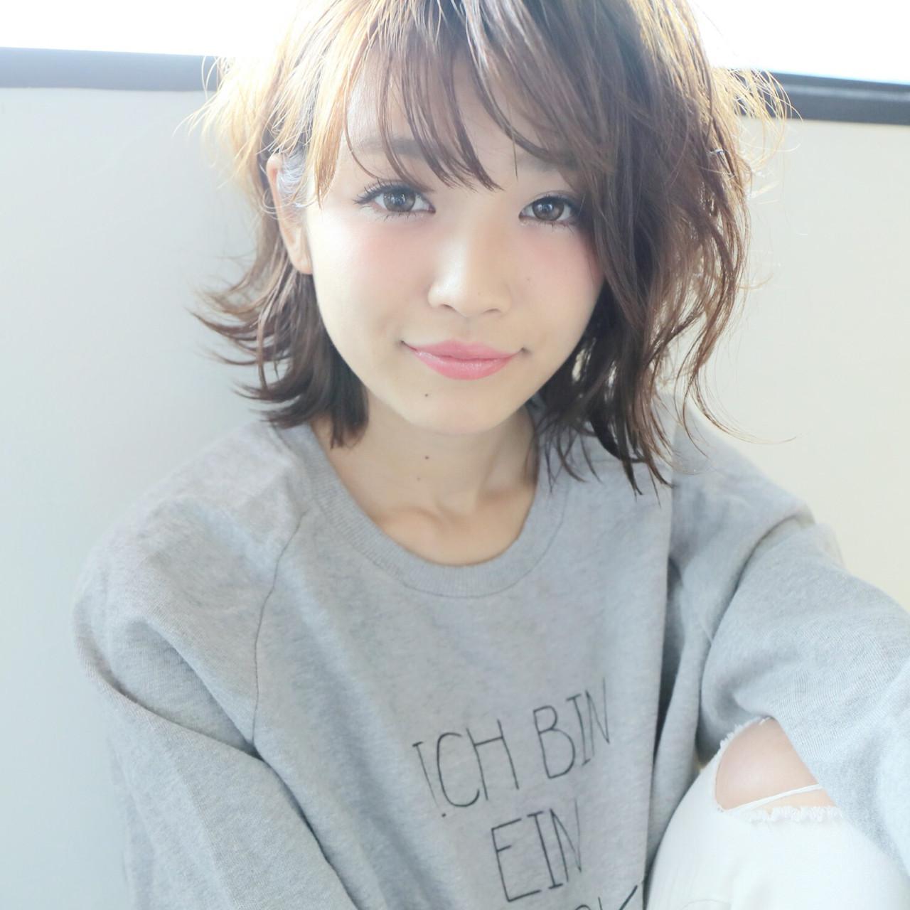 ガーリー パーマ ボブ ゆるふわ ヘアスタイルや髪型の写真・画像 | imai yutaro / Aj