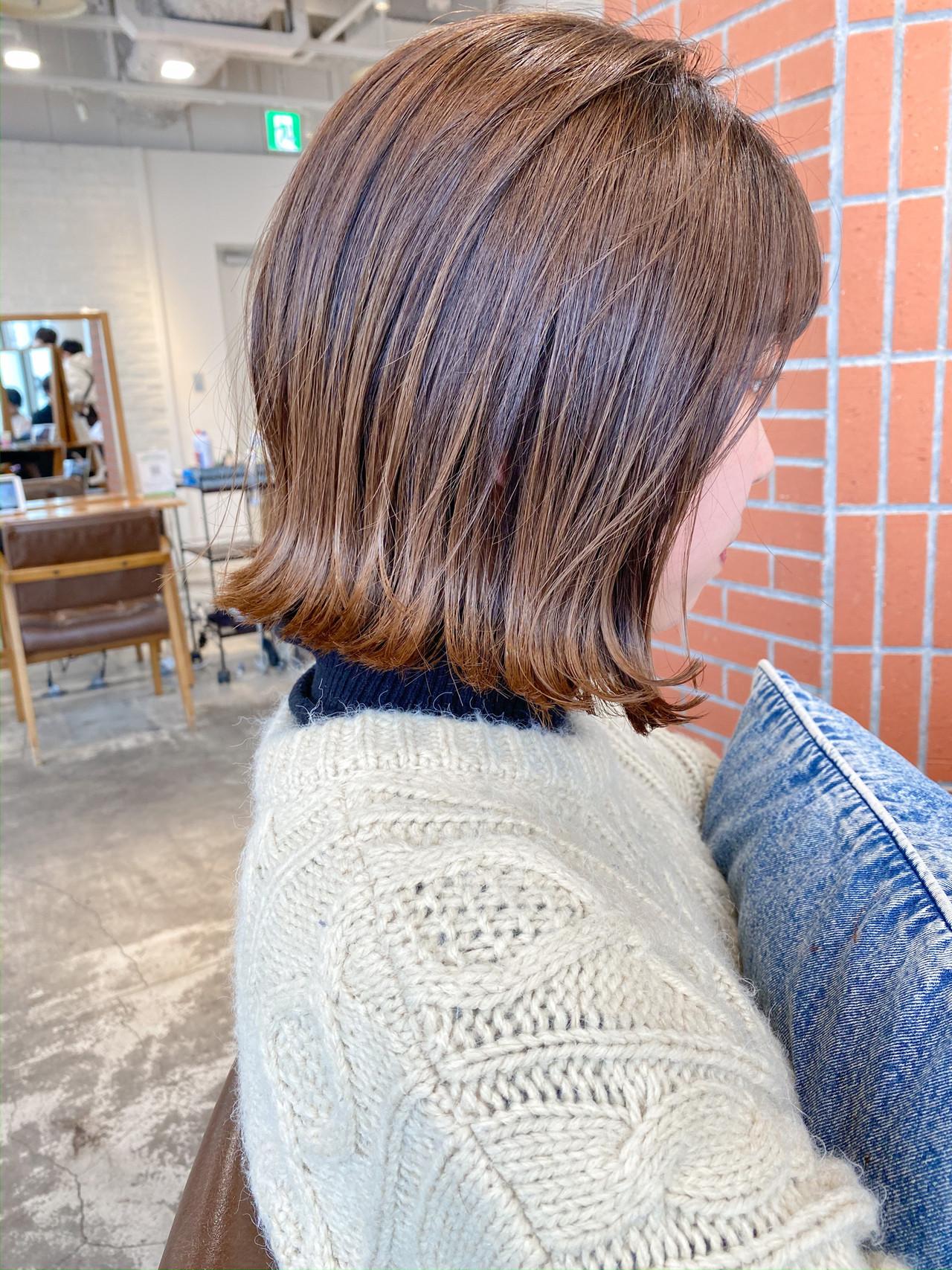 切りっぱなしボブ ショートヘア ショートボブ ナチュラル ヘアスタイルや髪型の写真・画像 | GARDEN harajuku 塩見 / GARDEN harajuku