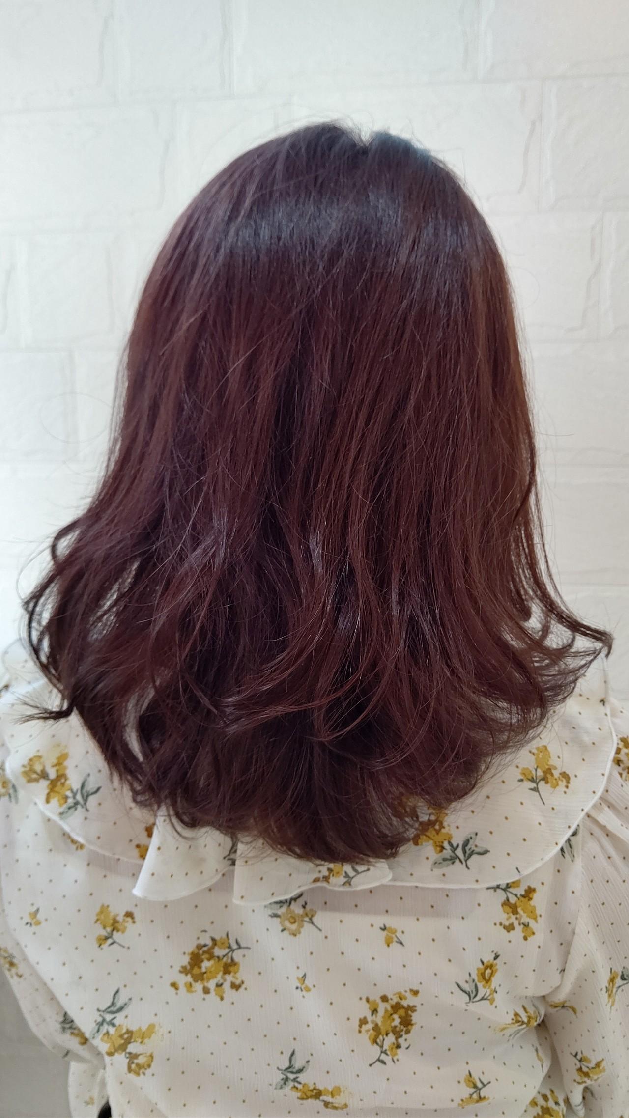 ナチュラル ツヤ髪 ミディアム 秋 ヘアスタイルや髪型の写真・画像   相川 美緒 / each hair&totalbeauty