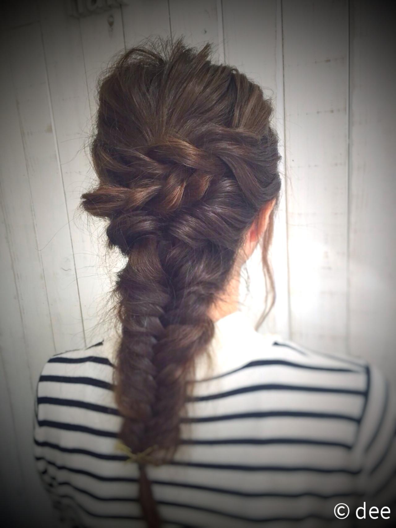 波ウェーブ 簡単ヘアアレンジ ロープ編み ショート ヘアスタイルや髪型の写真・画像