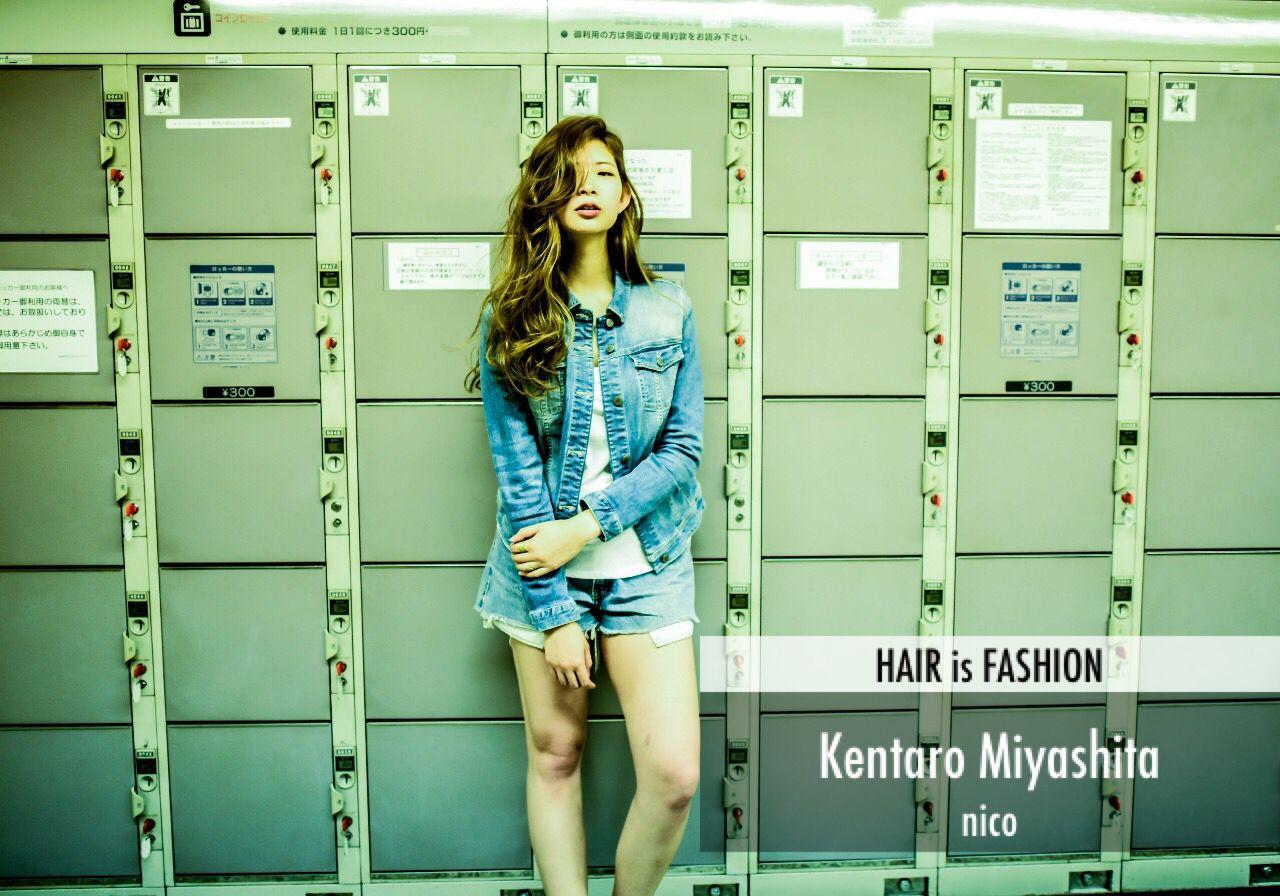 春 ストリート パンク ロング ヘアスタイルや髪型の写真・画像 | Kentaro Miyashita / nico
