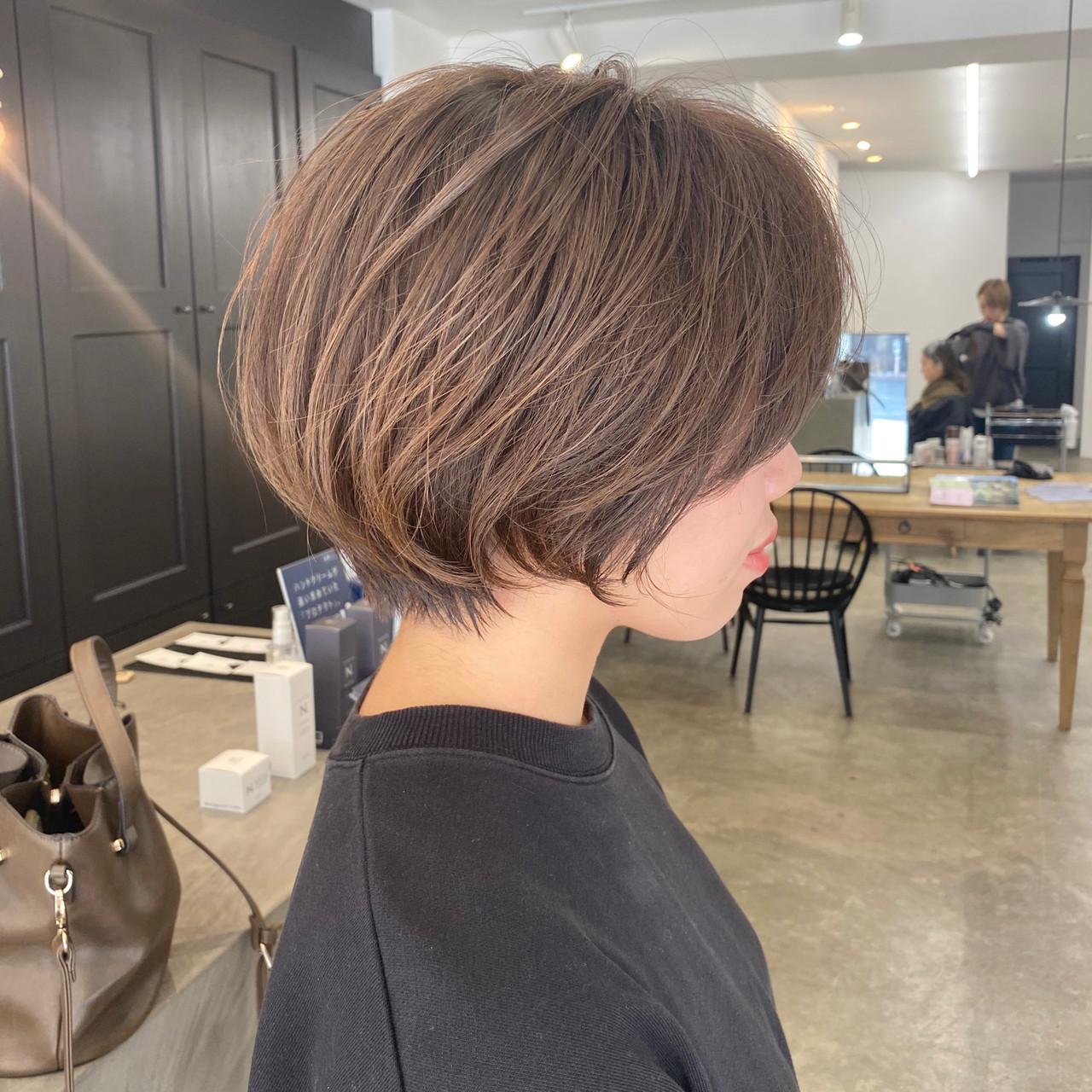 ナチュラル ショートボブ ショート ショートヘア ヘアスタイルや髪型の写真・画像   【ショート&ショートボブはお任せください】淺川聖 / parc sapporo