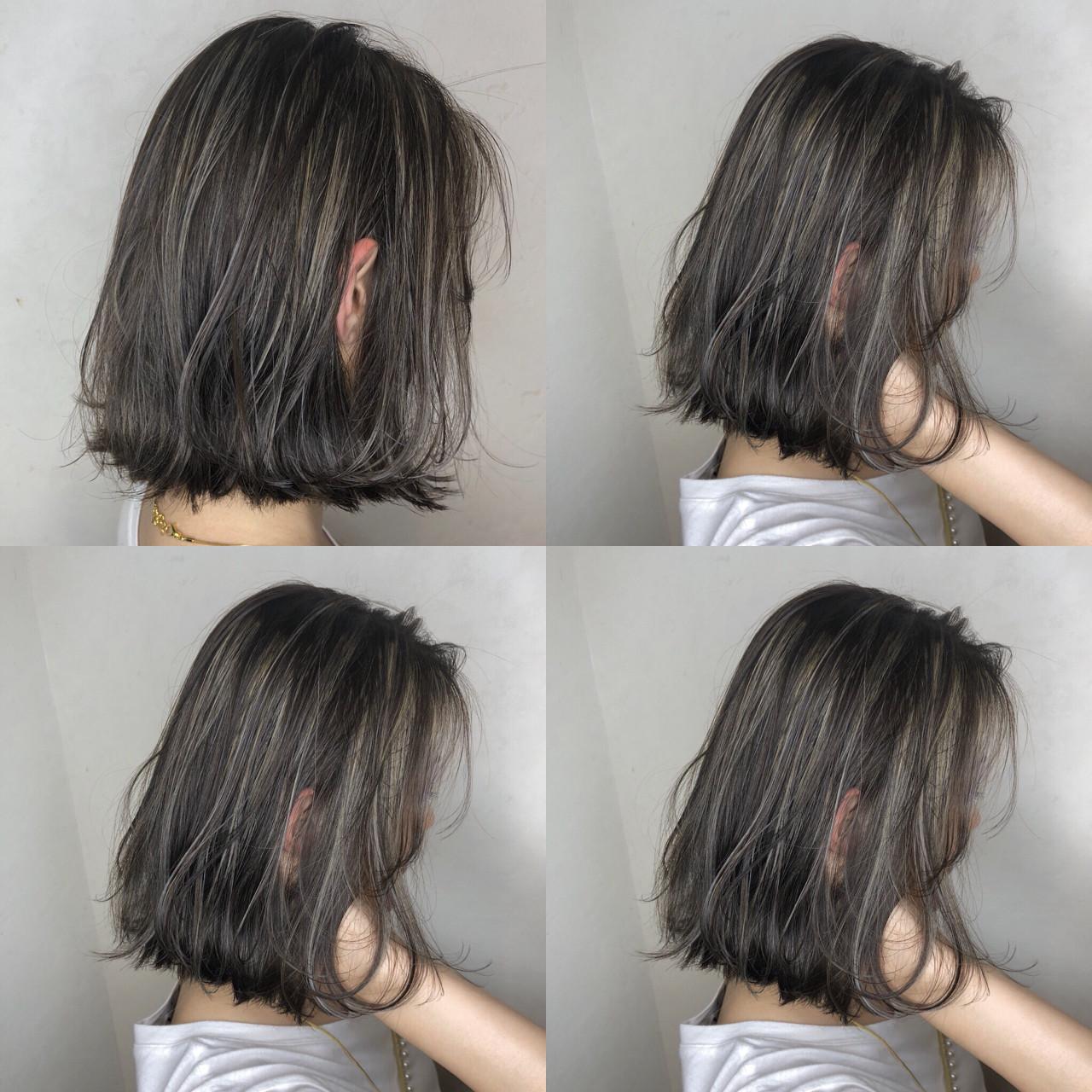 グレージュ 透明感 ナチュラル おフェロ ヘアスタイルや髪型の写真・画像 | TAKA / cecil hair 河原町店