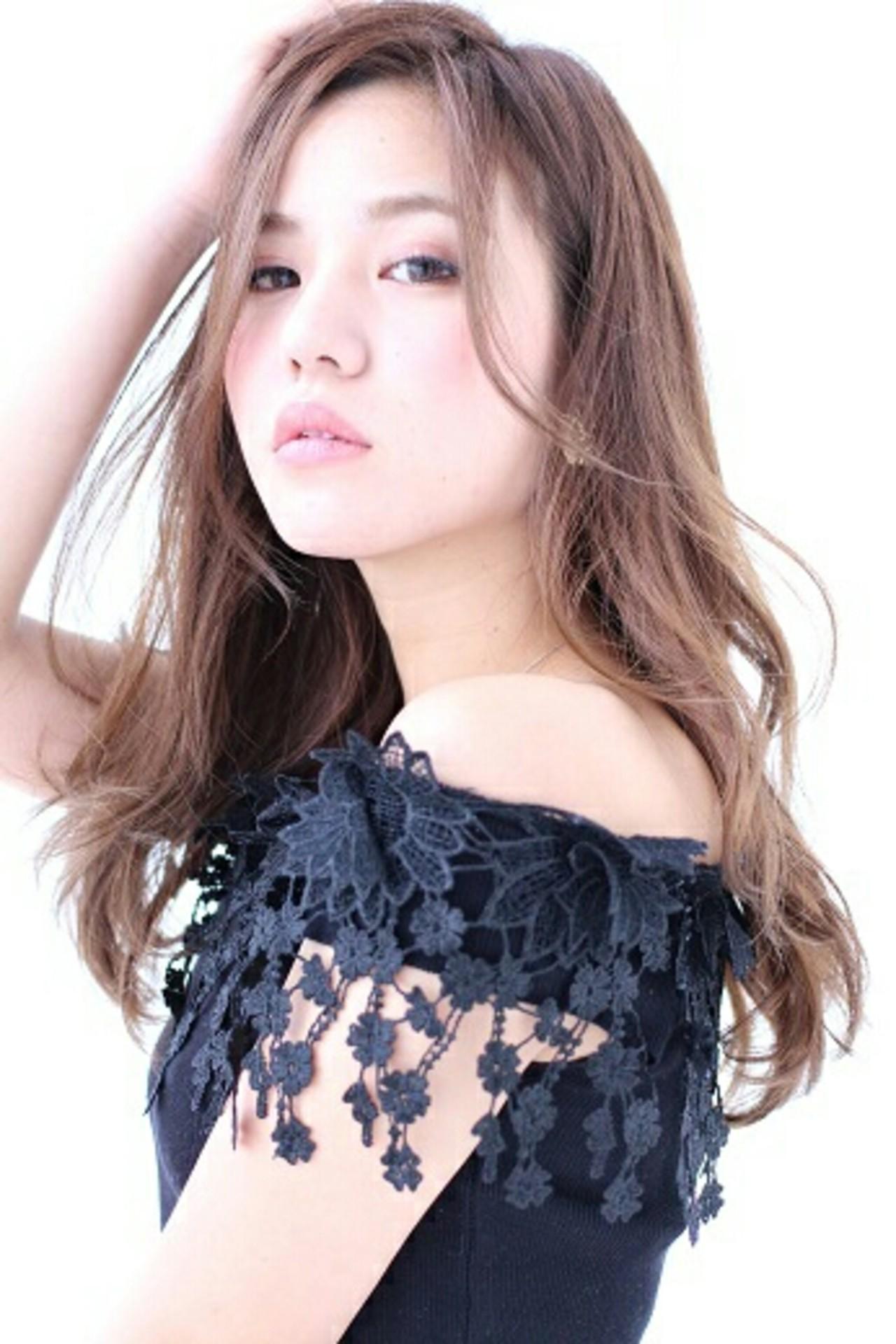 モード 大人かわいい フェミニン 外国人風 ヘアスタイルや髪型の写真・画像