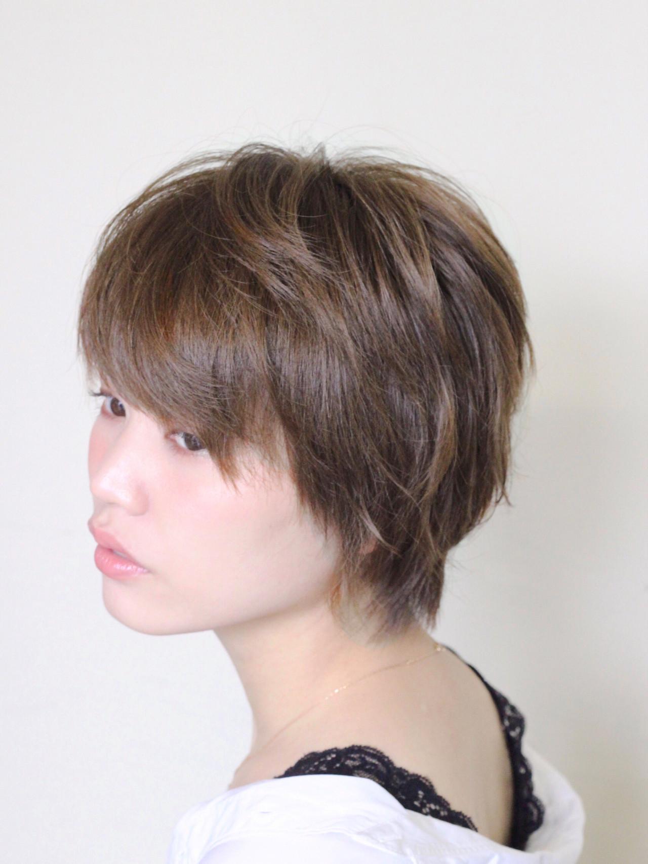 大人可愛い ナチュラル ショート ベリーショート ヘアスタイルや髪型の写真・画像