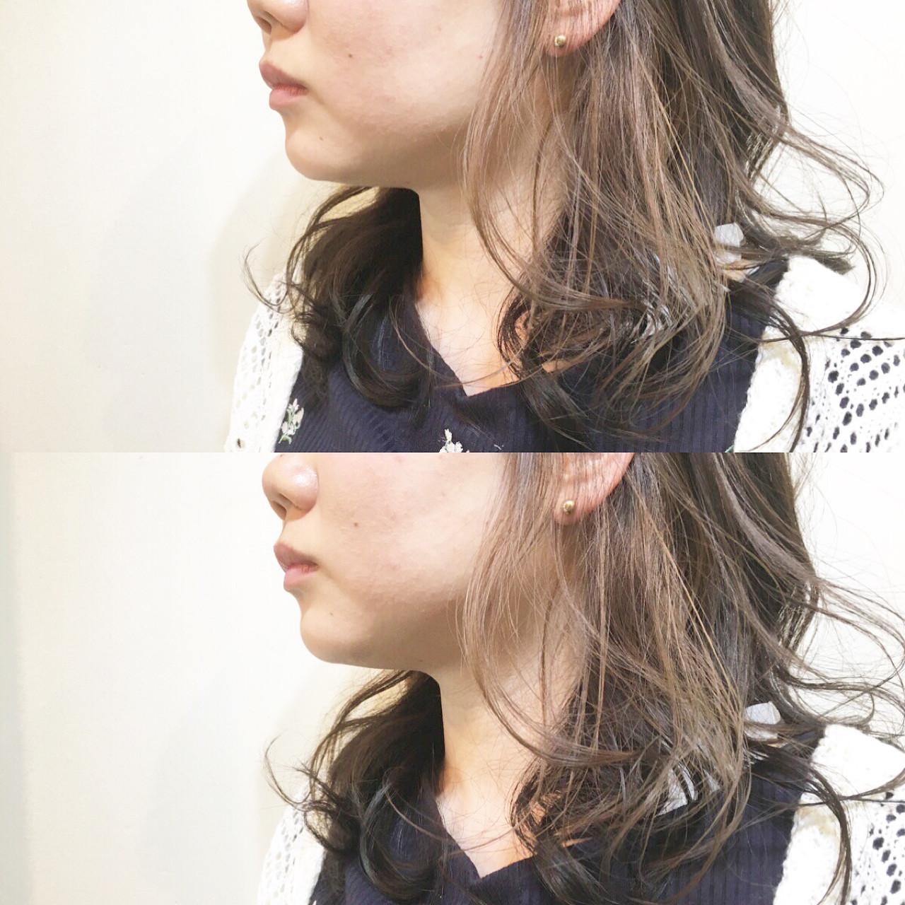 リラックス ロブヘア × ミントアッシュインナーカラー☆