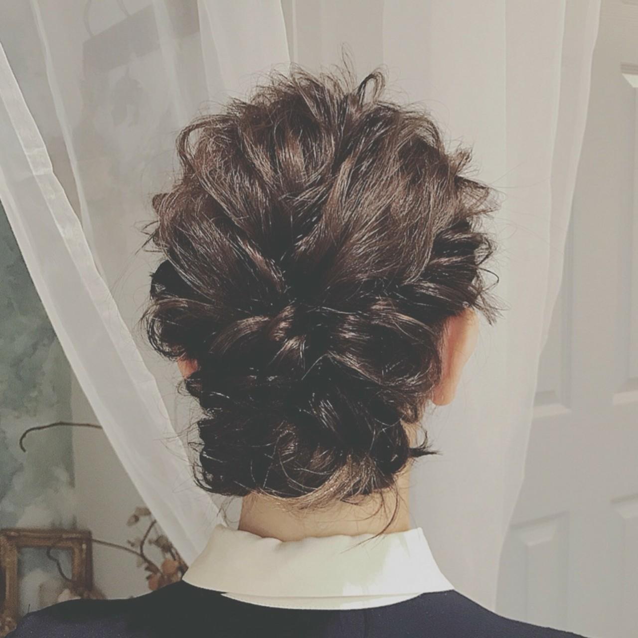 大人かわいい パーティ ミディアム フェミニン ヘアスタイルや髪型の写真・画像 | 浦川由起江 / nanon