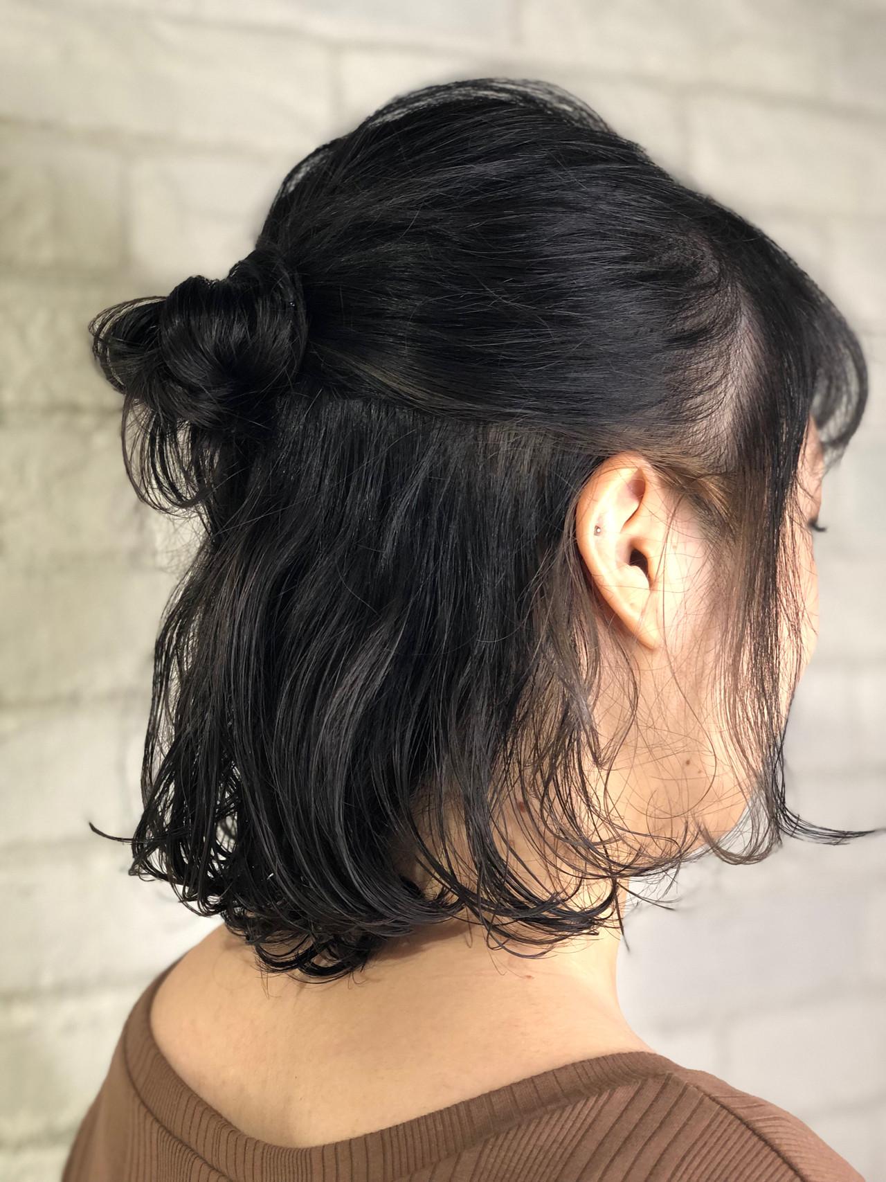 ヘアアレンジ ボブ ナチュラル グレージュ ヘアスタイルや髪型の写真・画像 | 廣瀬 晴菜 ZENKO chere店 / ZENKO 吉祥寺シェール店