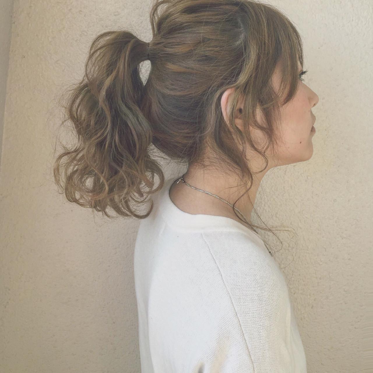ゆるふわ 外国人風 セミロング 簡単ヘアアレンジ ヘアスタイルや髪型の写真・画像
