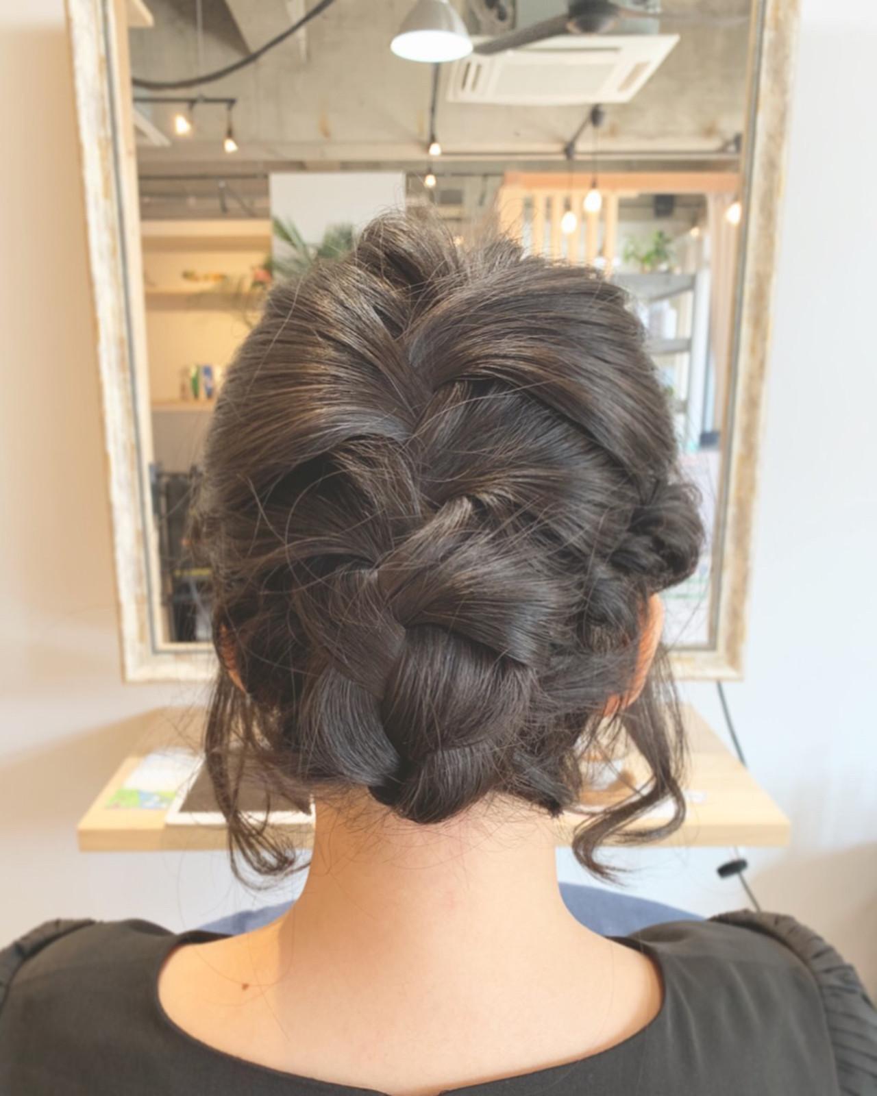 ヘアアレンジ スポーツ 簡単ヘアアレンジ ミディアム ヘアスタイルや髪型の写真・画像   寺島孝夫 / Lea hair&nail