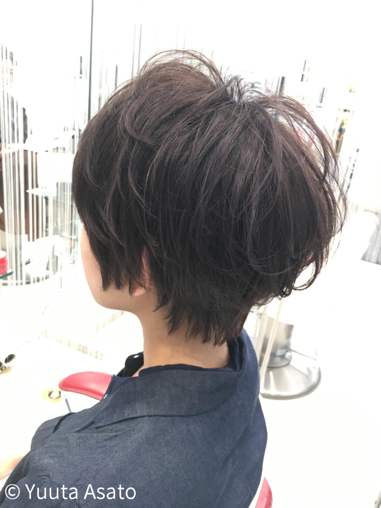 エアリー 大人かわいい ショートボブ ナチュラル ヘアスタイルや髪型の写真・画像 | Yuuta Asato / Moana by HEADLIGHT 沖縄東崎店