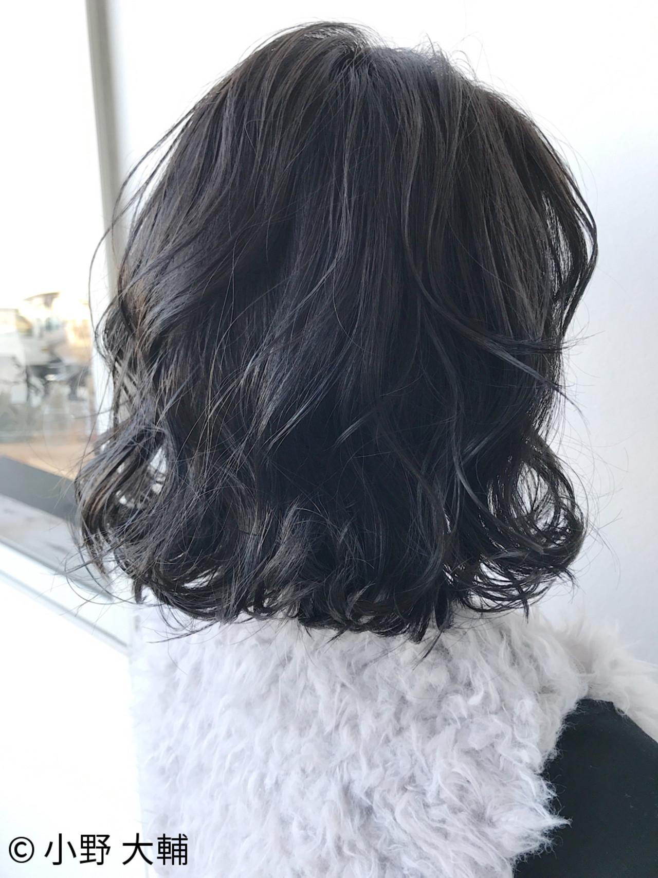 冬 ボブ アッシュ ナチュラル ヘアスタイルや髪型の写真・画像