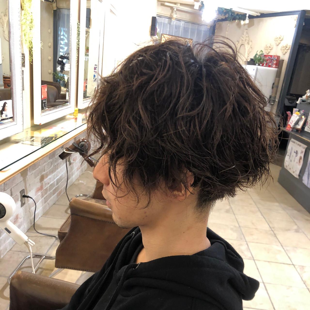 メンズヘア メンズ メンズパーマ ショート ヘアスタイルや髪型の写真・画像   大村恭一 / canvas by neo
