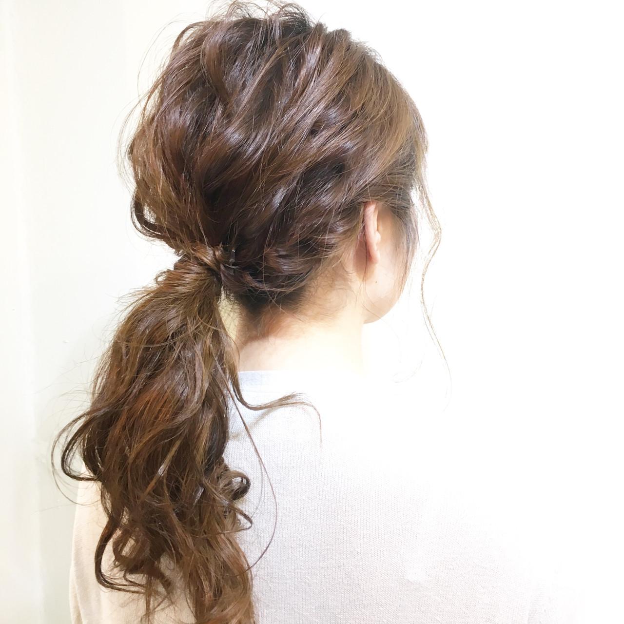 簡単ヘアアレンジ 編み込み 簡単 夏 ヘアスタイルや髪型の写真・画像